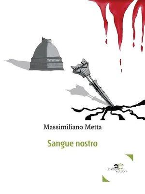cover image of Sangue nostro