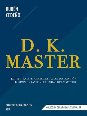 cover image of D. K. Master