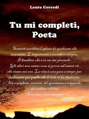 cover image of Tu mi completi, Poeta