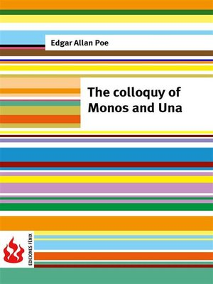 cover image of The colloquy of Monos and Una (low cost). Limited edition
