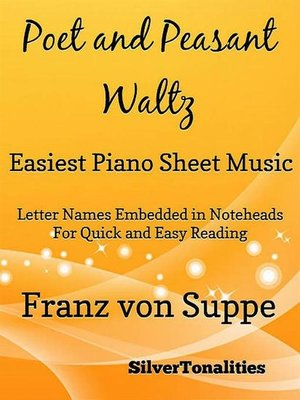 cover image of Poet and Peasant Waltz Easiest Piano