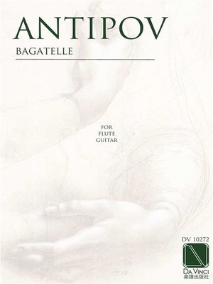 cover image of Bagatelle, for flute and guitar