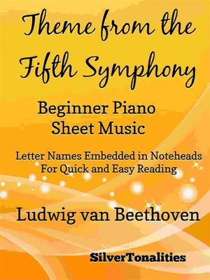 cover image of Theme from the Fifth Symphony Beginner Piano Sheet Music