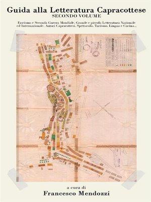 cover image of Guida alla Letteratura Capracottese. Volume 2