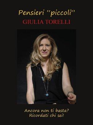 "cover image of Pensieri ""piccoli"""