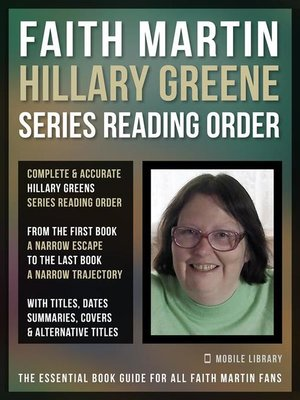 cover image of Faith Martin Hillary Greene Series Reading Order