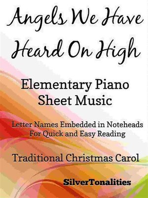 cover image of Angels We Have Heard on High Elementary Piano Sheet Music