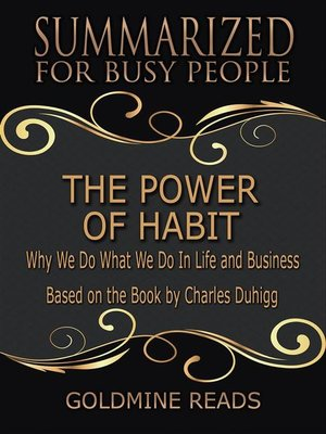 cover image of The Power of Habit--Summarized for Busy People