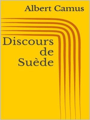 cover image of Discours de Suède
