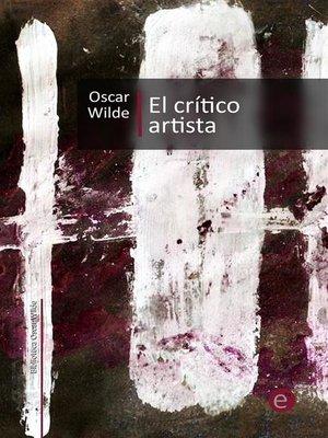 cover image of El crítico artista