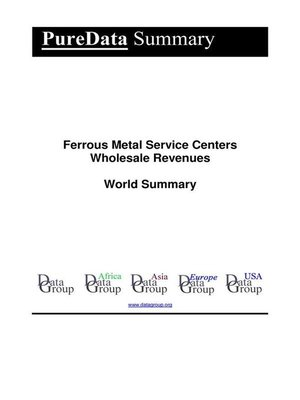 cover image of Ferrous Metal Service Centers Wholesale Revenues World Summary