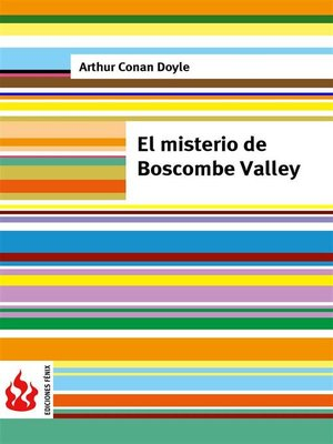 cover image of El misterio de Boscombe Valley (low cost). Edición limitada