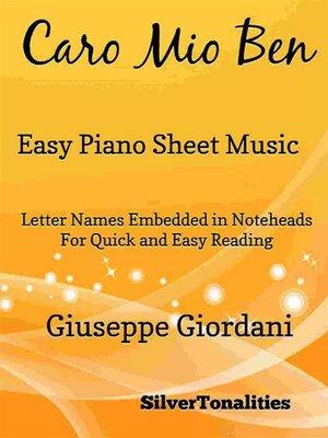 cover image of Caro Mio Ben Easy Piano Sheet Music