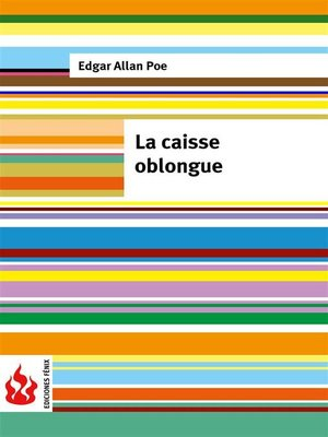 cover image of La caisse oblongue (low cost). Édition limitée