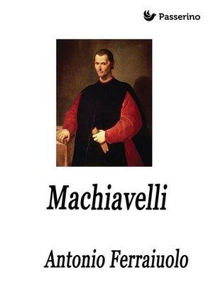 cover image of Machiavelli