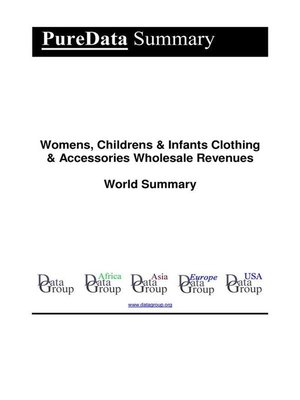 cover image of Womens, Childrens & Infants Clothing & Accessories Wholesale Revenues World Summary