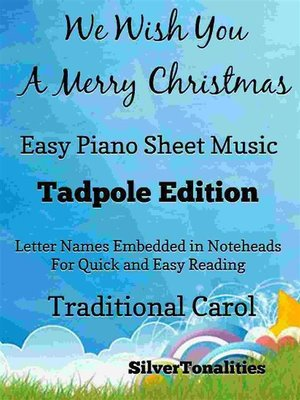 cover image of We Wish You a Merry Christmas Easy Piano Sheet Music Tadpole Edition