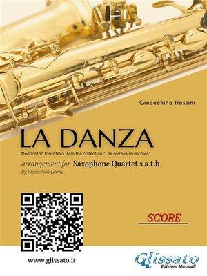 cover image of La Danza--Saxophone Quartet score & parts