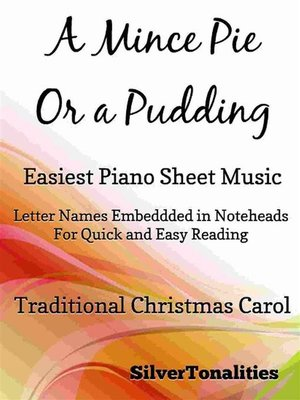 cover image of A Mince Pie Or a Pudding Easiest Piano Sheet Music