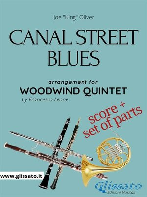 cover image of Canal Street Blues--Woodwind Quintet score & parts