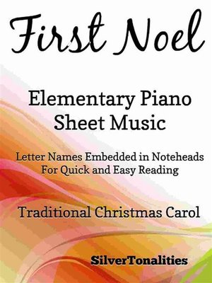 cover image of First Noel Elementary Piano Sheet Music