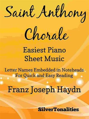 cover image of Saint Anthony Chorale Easiest Piano Sheet Music