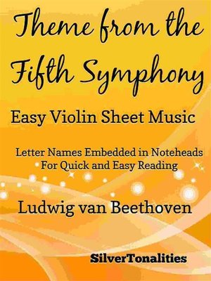 cover image of Theme from the Fifth Symphony Easy Violin Sheet Music