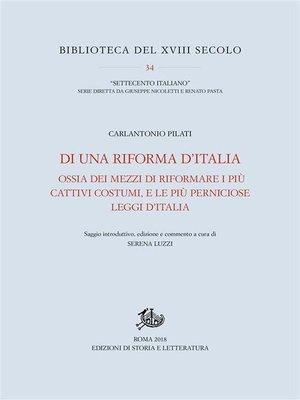 cover image of Di una riforma d'Italia