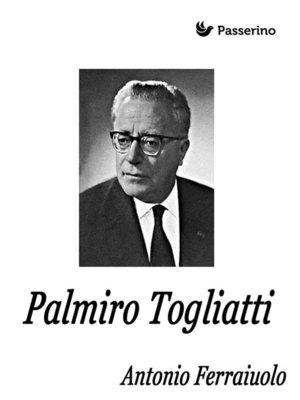 cover image of Palmiro Togliatti