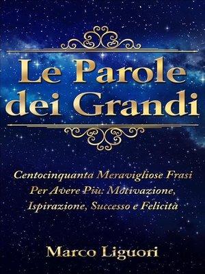 cover image of Le Parole dei Grandi