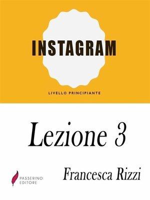 cover image of Instagram Lezione 3