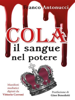 cover image of Cola. Il sangue nel potere