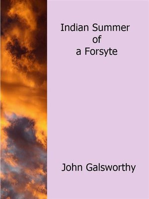 cover image of Indian Summer of a Forsyte