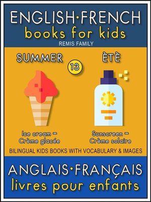 cover image of 13--Summer | Été--English French Books for Kids (Anglais Français Livres pour Enfants)