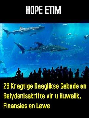 cover image of 28 Kragtige Daaglikse Gebede en Belydenisskrifte vir u Huwelik, Finansies en Lewe
