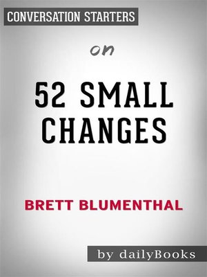 cover image of 52 Small Changes--by Brett Blumenthal