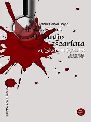 cover image of Estudio escarlata/A Study in scarlet