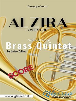 cover image of Alzira--Brass Quintet (score)