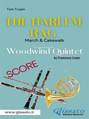 cover image of The Harlem Rag--Woodwind Quintet (score)