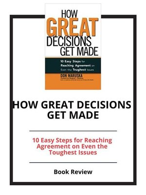 cover image of How Great Decisions Get Made