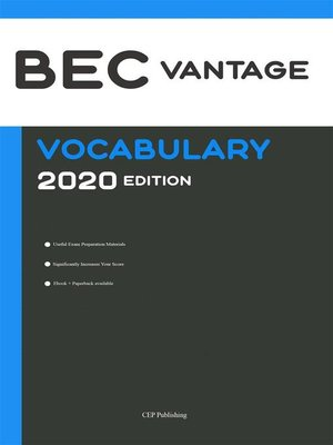 cover image of BEC Vantage Vocabulary 2020 Edition