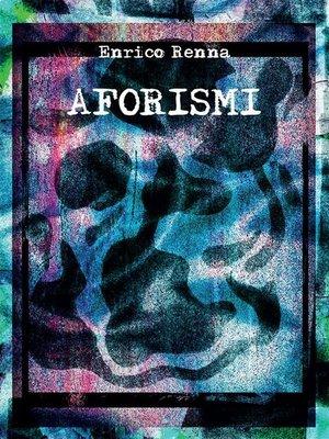cover image of Aforismi
