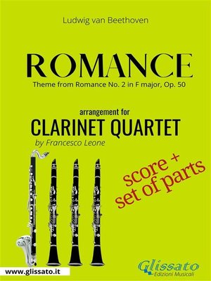 cover image of Theme from Romance --Clarinet Quartet score & parts