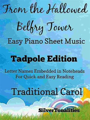 cover image of From the Hallowed Belfry Tower Easy Piano Sheet Music Tadpole Edition