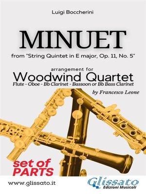 cover image of Minuet--Woodwind Quartet (PARTS)
