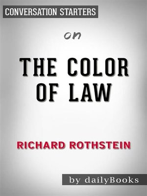 cover image of The Color of Law--by Richard Rothstein