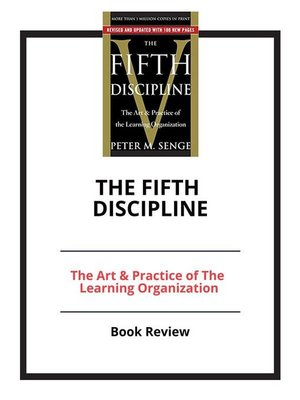 cover image of The Fifth Discipline--The Art & Practice of the Learning Organization
