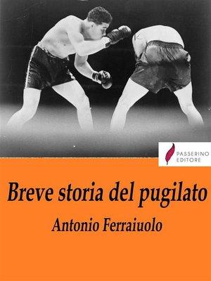 cover image of Breve storia del pugilato