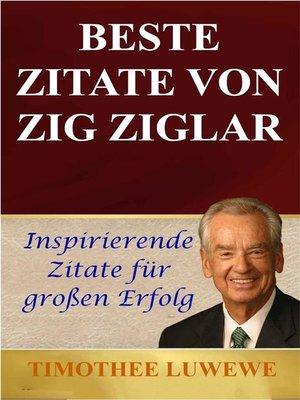 cover image of Beste Zitate Von Zig Ziglar