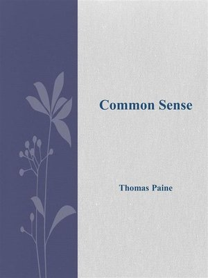 cover image of Common Sense